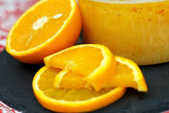 Detail Orangenpeeling - selbstgemachtes Peeling mit Liebe gemacht