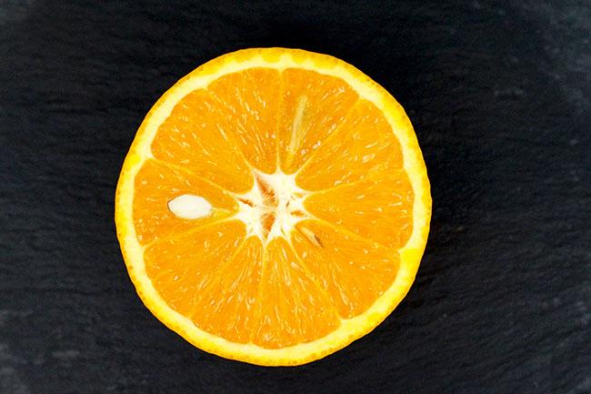 Bio-Orange für das selbstgemachte Peeling - Mit Liebe gemacht