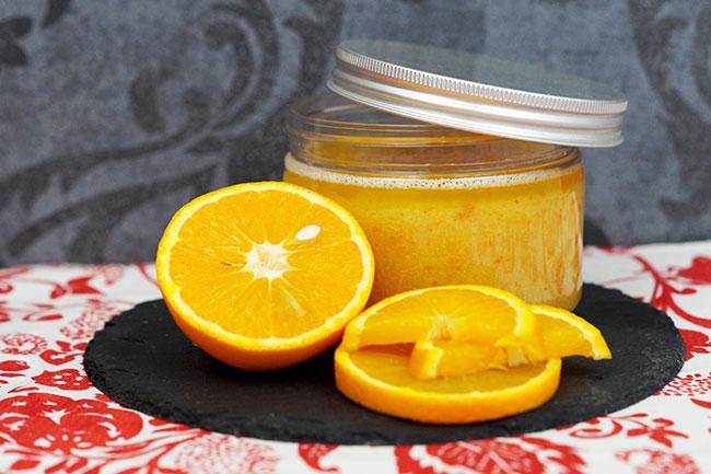 Orangenpeeling - selbstgemachte Kosmetik für eine strahlende Haut