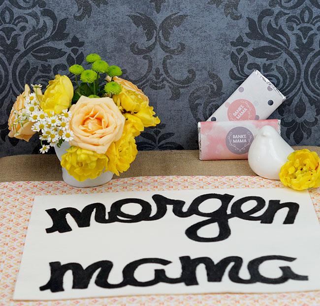 Tischdeko für Muttertagsbrunch