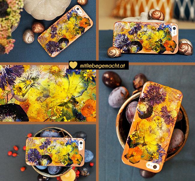 Herbstliches Smartphone