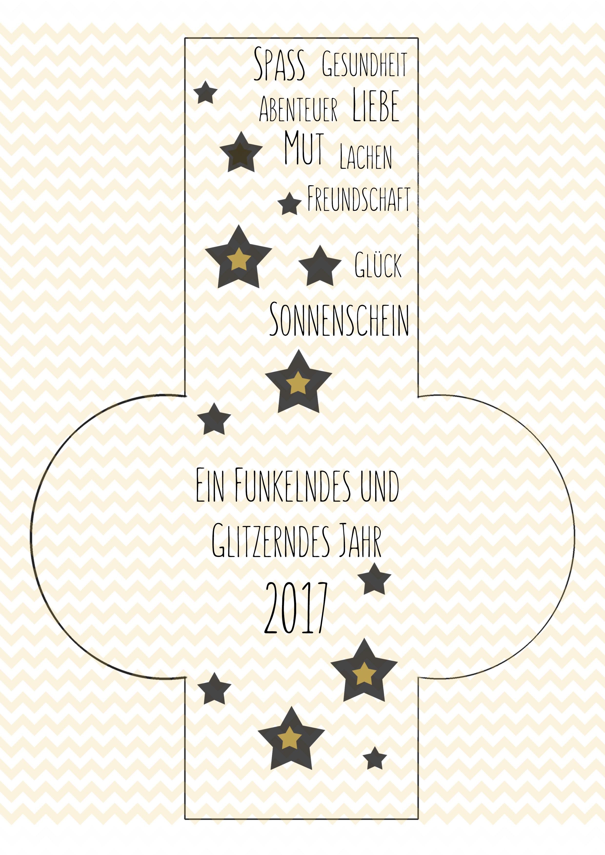 Glücksbringer Vorlage 2017