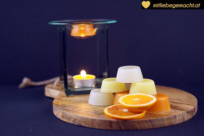 Aroma Melts in Duftschale geben