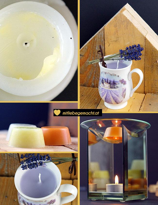 Kerzenrest verwerten - Duftkerze & Aroma Melts