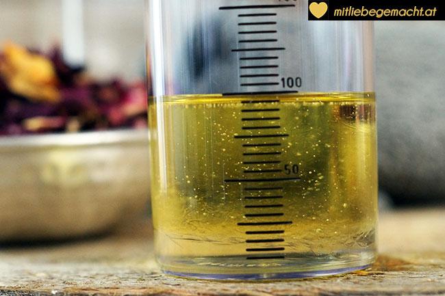 Rizinusöl und Mandelöl gemischt - Naturkosmetik Rezept