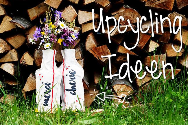 Upcycling Idee: Stoffvasen