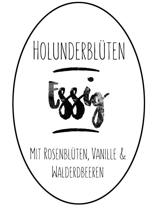 Label_Holunderblütenessig