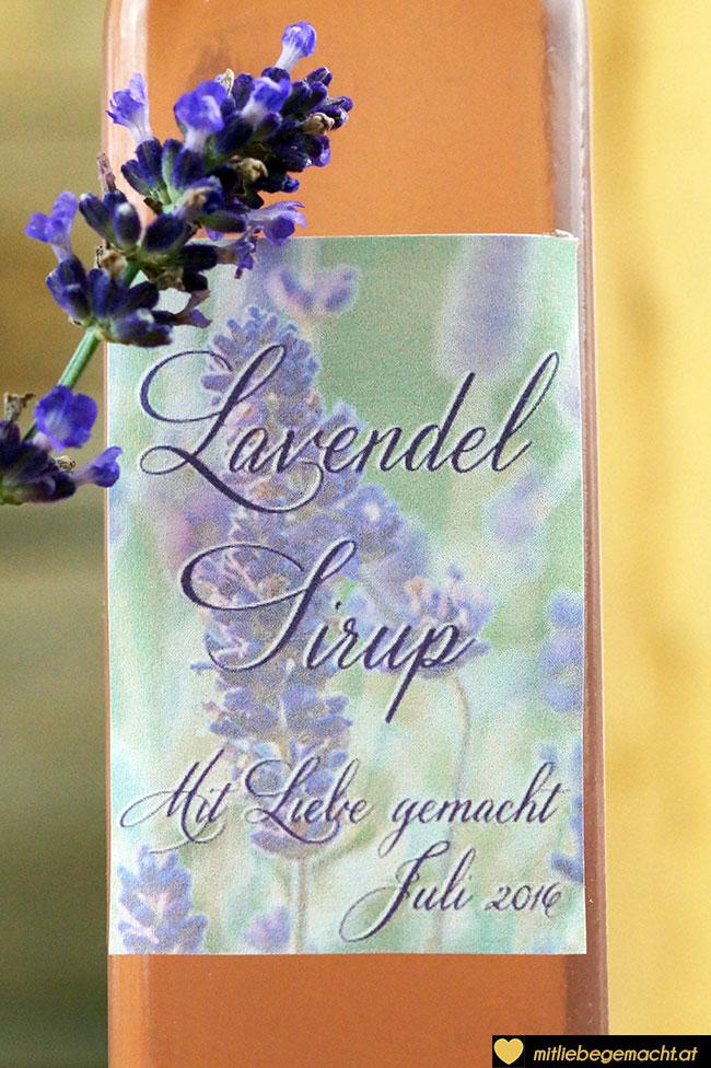 Lavendelsirup – mit Liebe gemacht