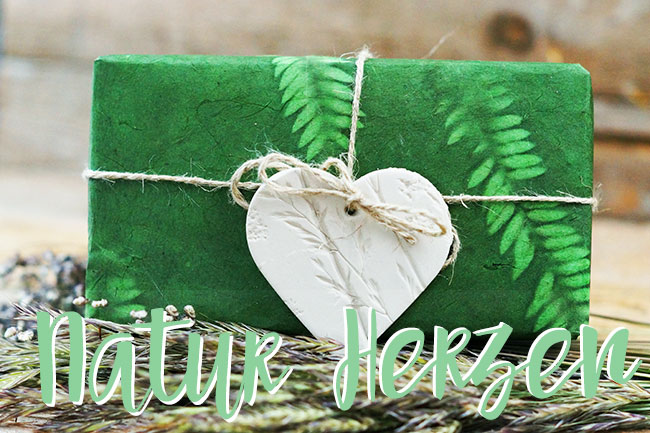 Naturherzen Geschenkanhänger basteln