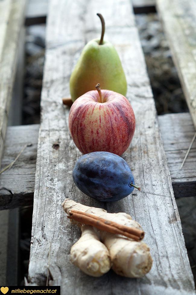 Zutaten für das Herbstwasser