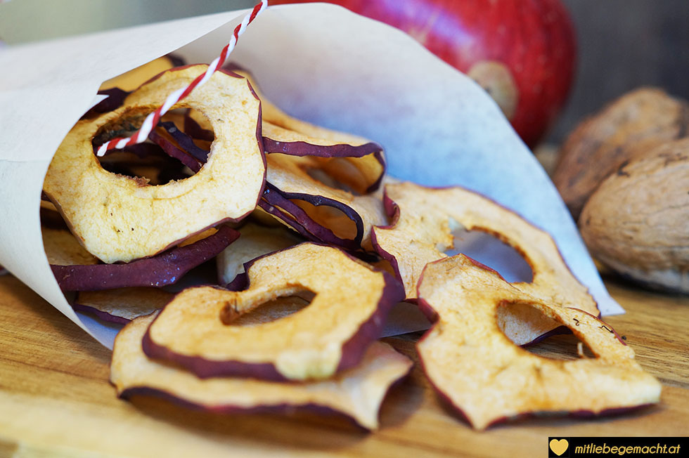 Fertige Apfelchips