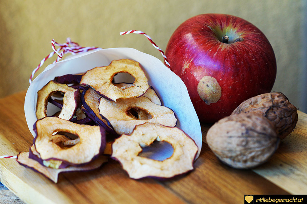 Apfelchips - leckere Nascherei