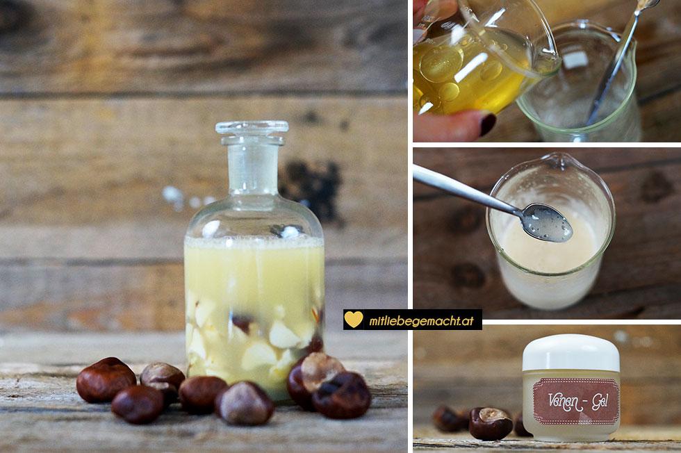 Kastanientinktur und Venengel selber machen