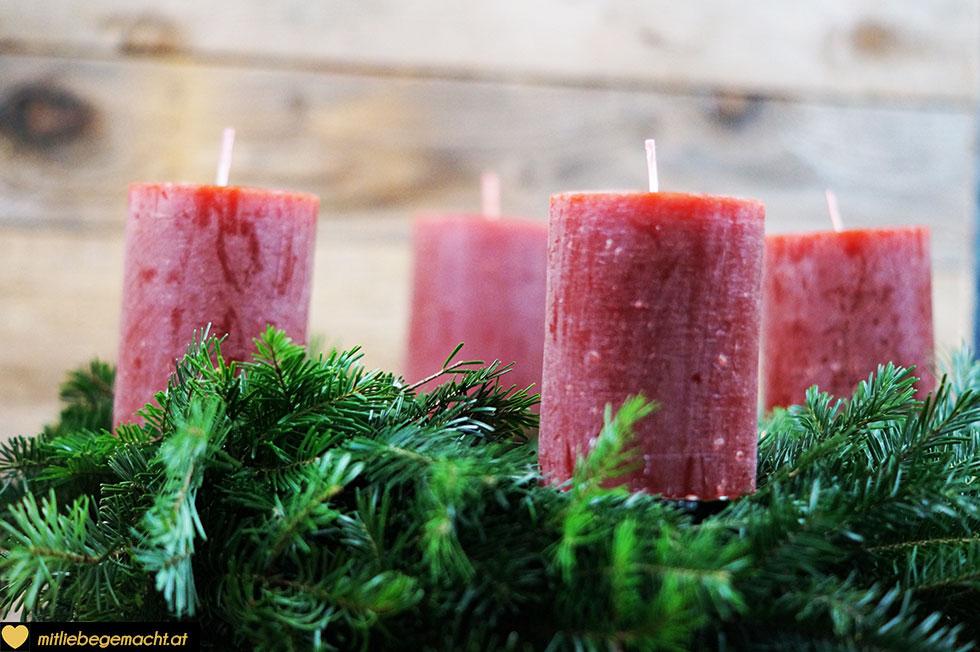 Kerzen platzieren