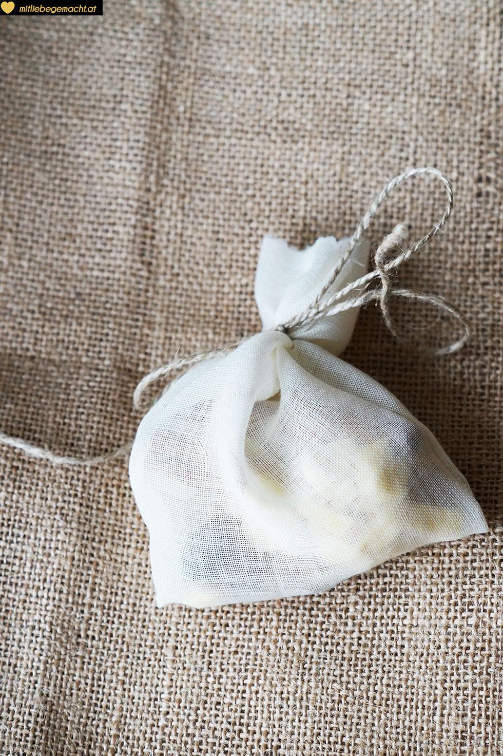 gefüllter Baumwollbeutel