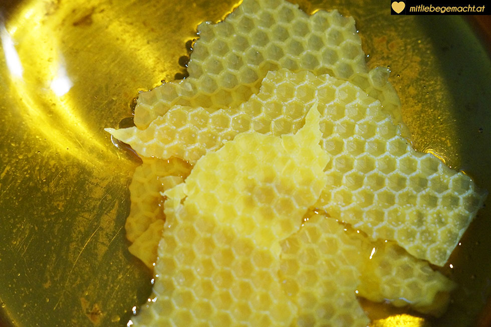 Bienenwachs auflösen