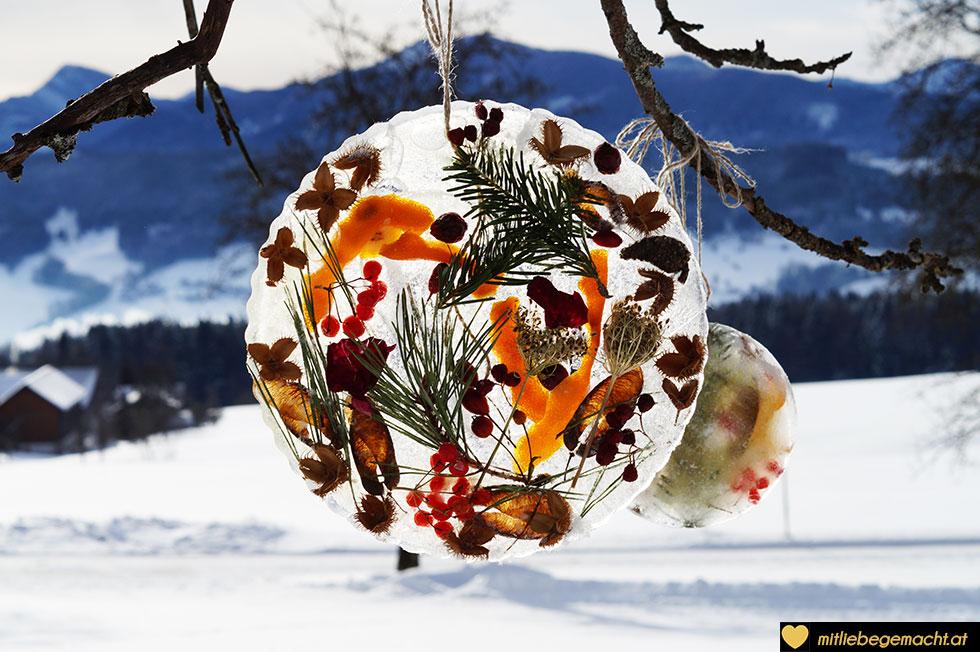 So schön strahlen die Eismandalas - mit liebe gemachtes DIY