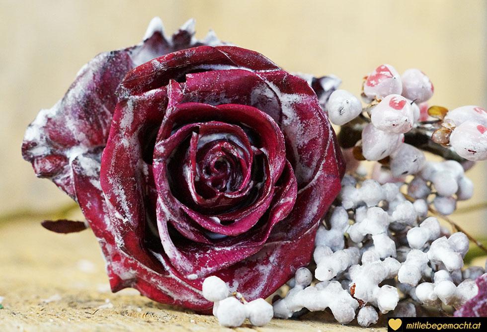 Rosen mit einem zarten Wachsüberzug