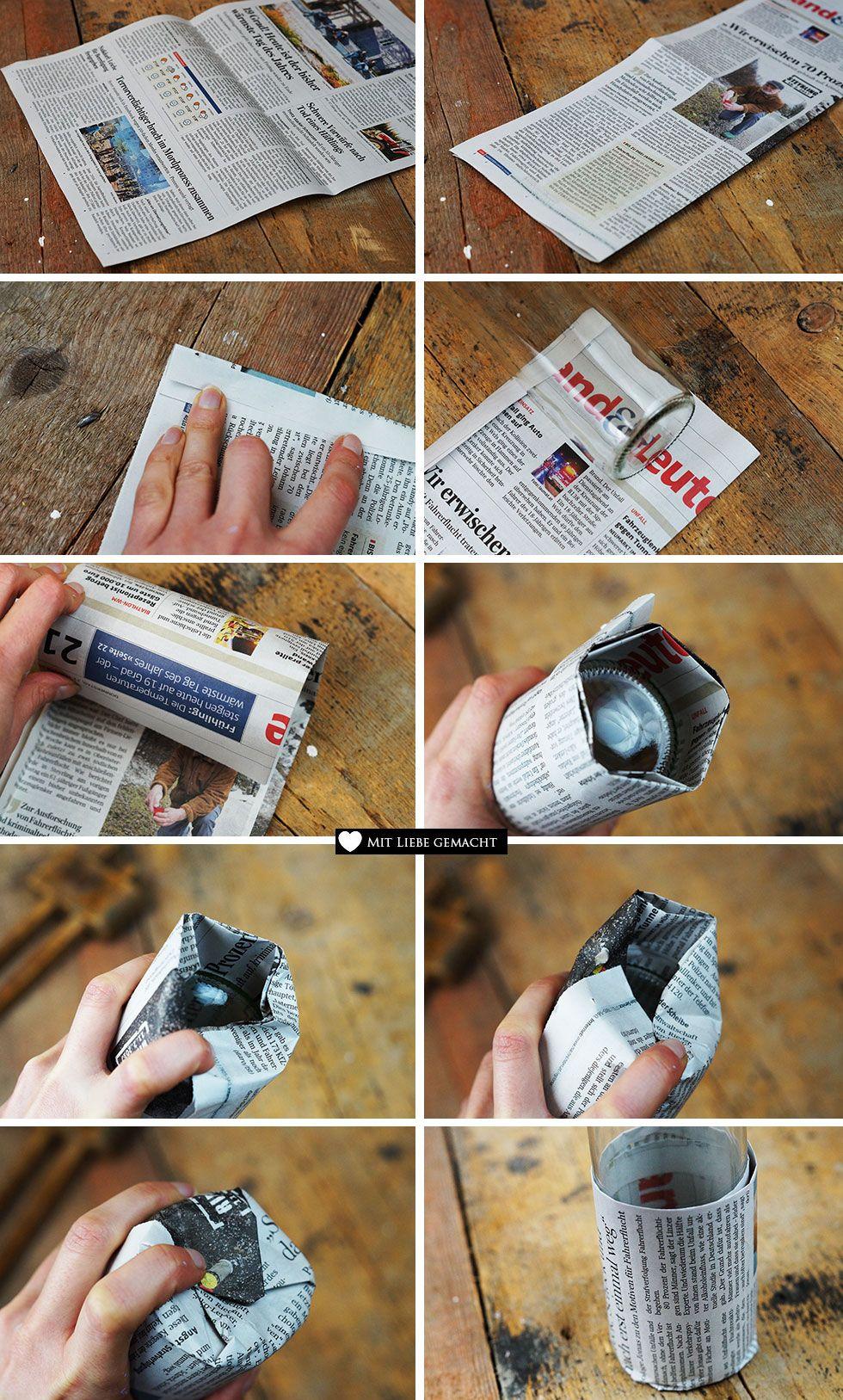 Upcycling Anzuchttöpfchen aus Zeitungspapier