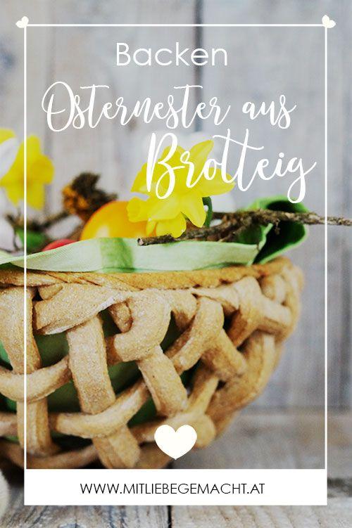 Originelle Osternester aus Brotteig