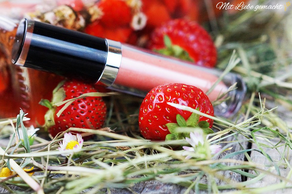 Erdbeer Lipgloss - natürlich selbstgemacht!