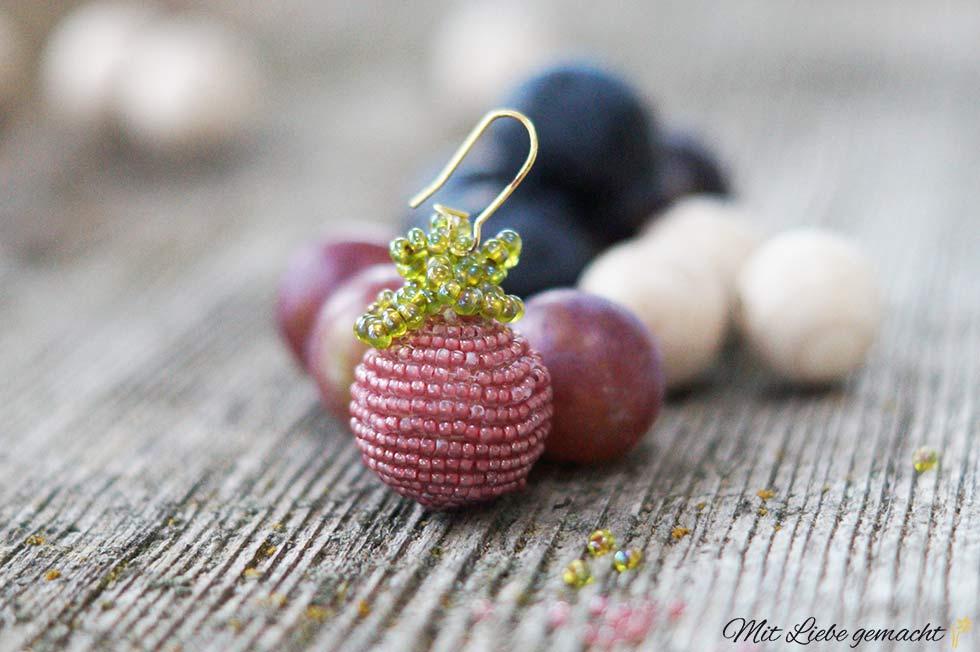 Ohrringe aus Perlen - Mit Liebe gemacht