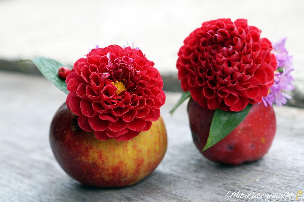 Apfelvasen als hübsche Deko