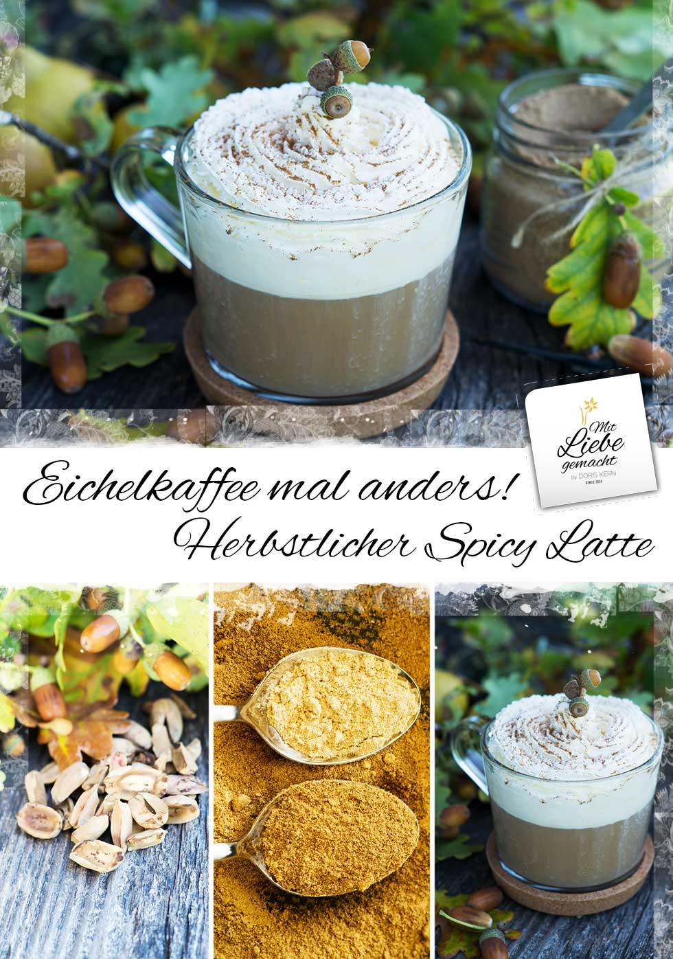 Köstlicher Café Latte aus Eicheln