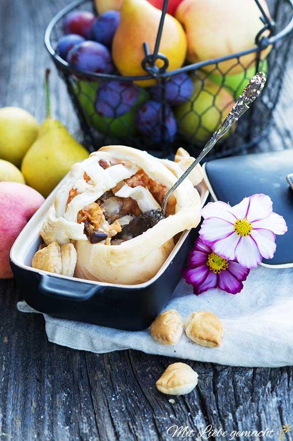Genussvoller Herbst – gefüllter Apfel