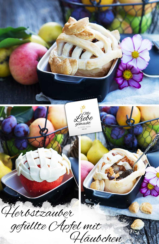 Gefüllter Apfel mit Häubchen