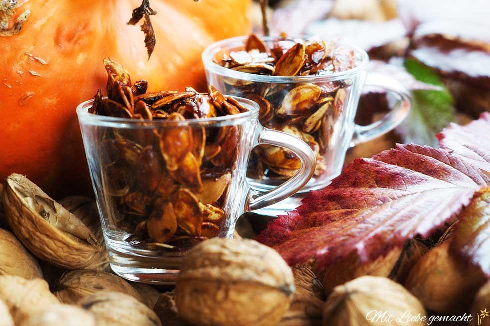 Kürbiskerne mit Honig