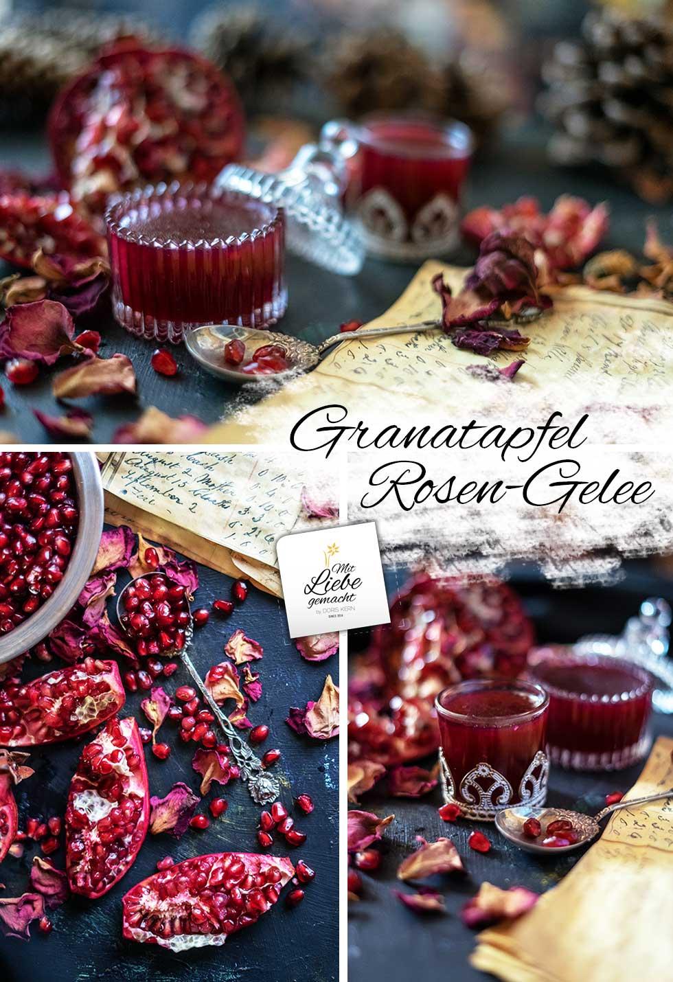 fruchtig sinnliches Granatapfel Gelee