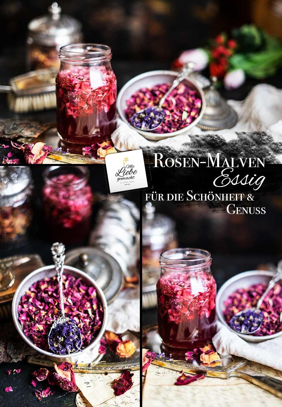 Rosen- Malvenessig für unsere Haut