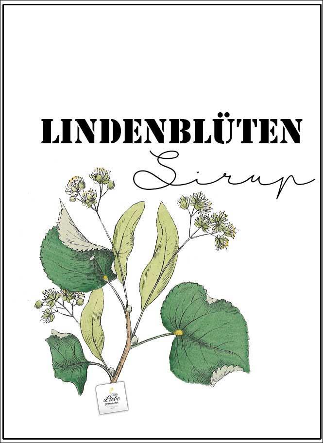 Lindenblütensirup Etikette