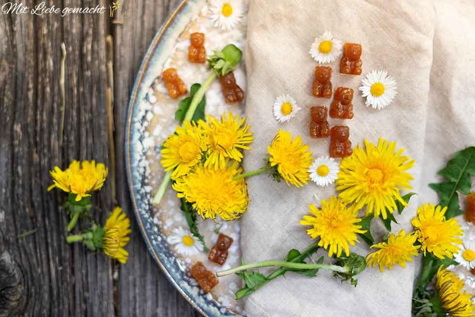 Frühlingshafte Blüten-Bonbons