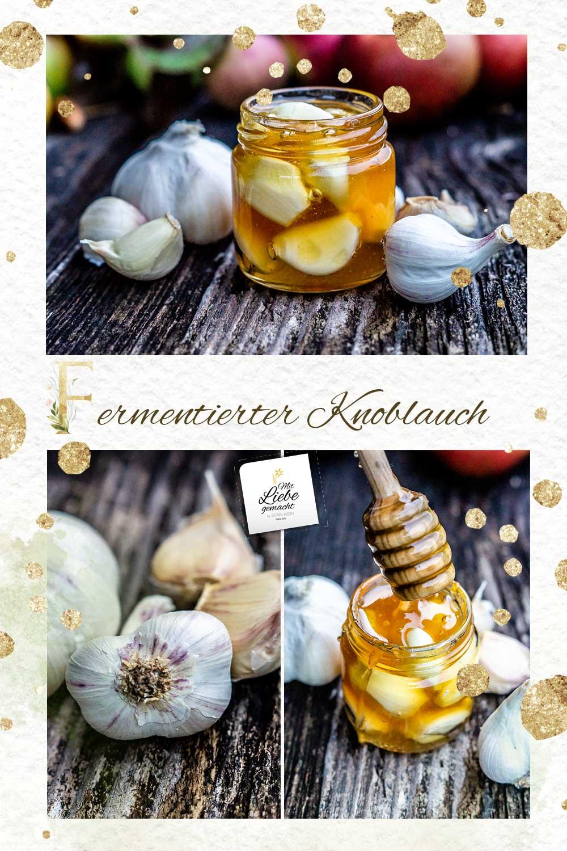 Fermentierter Knoblauch in Honig