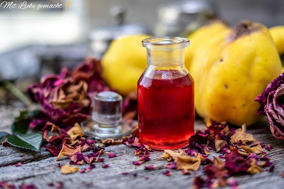 Massage Öl mit der feinen Quitte