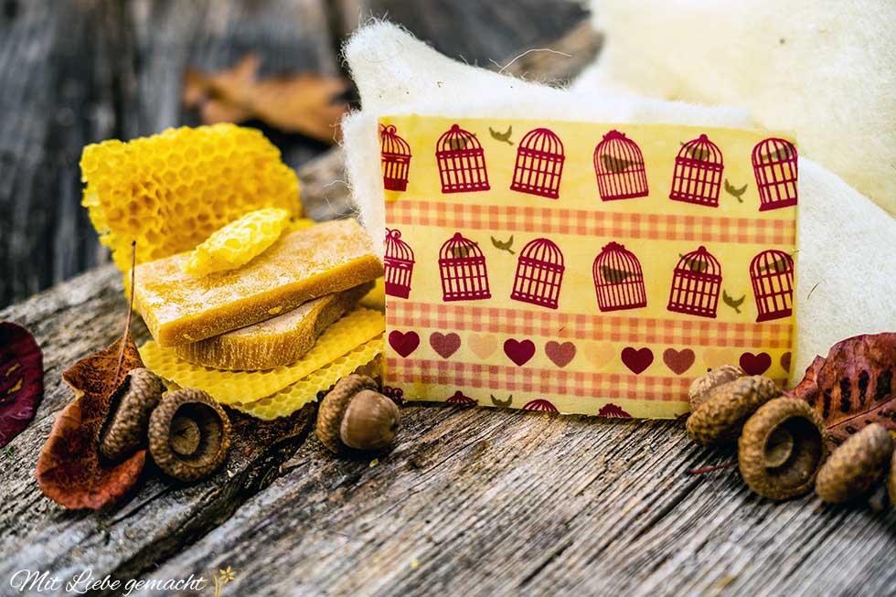 Bienenwachstücher anwenden