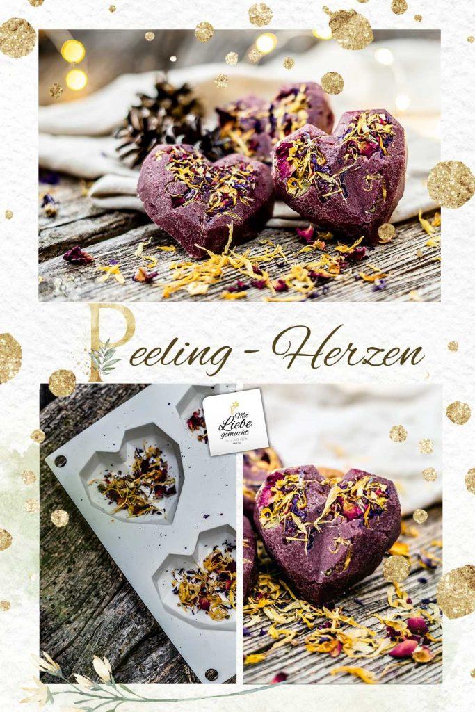 duftende Rosen Peeling Herzen