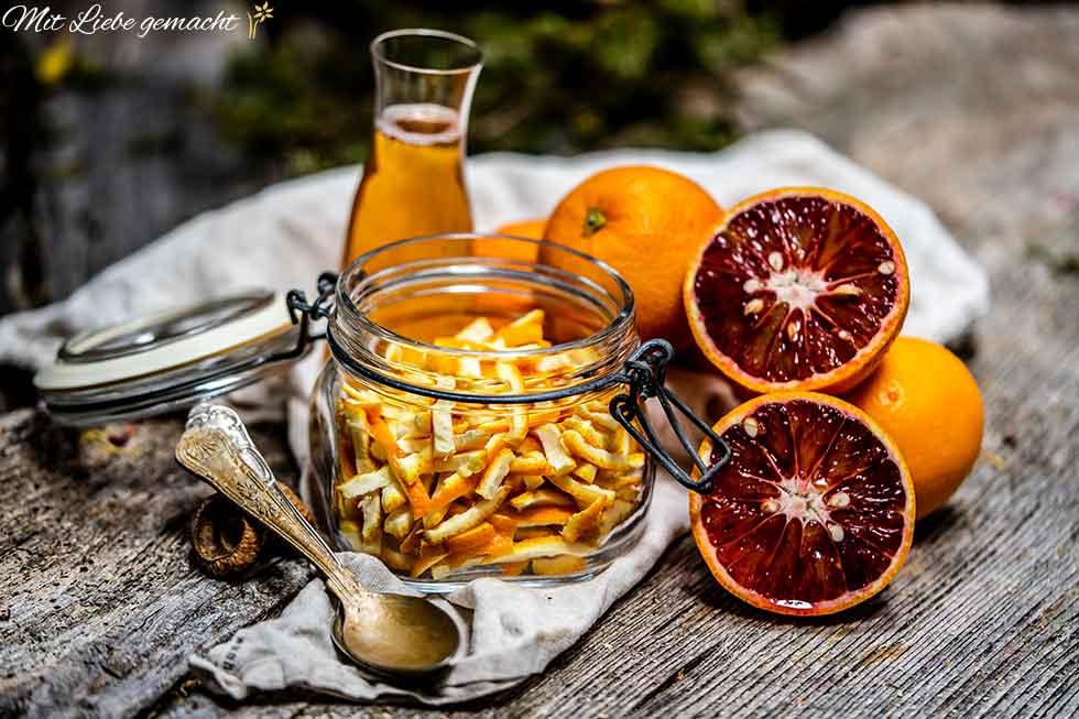 Zutaten Orangen Reiniger