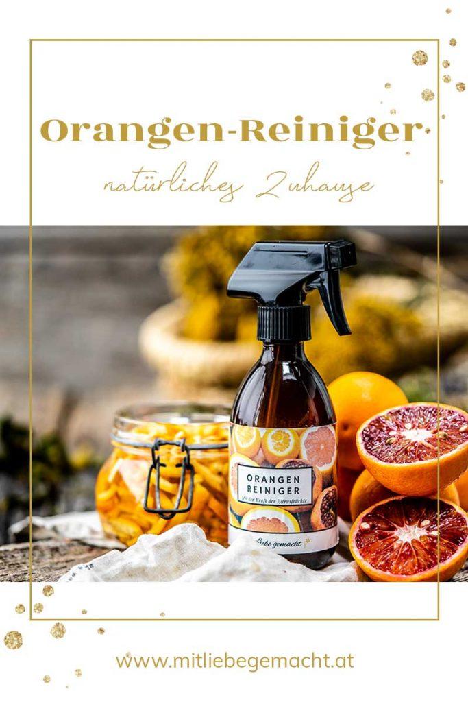 natürlicher Orangenreiniger selber machen