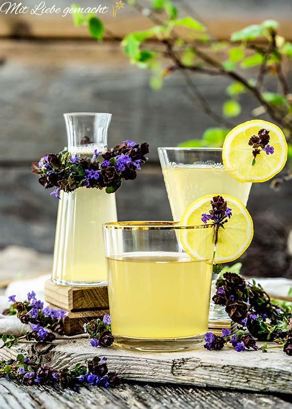 Lecker und erfrischend - Gundermann Limonade