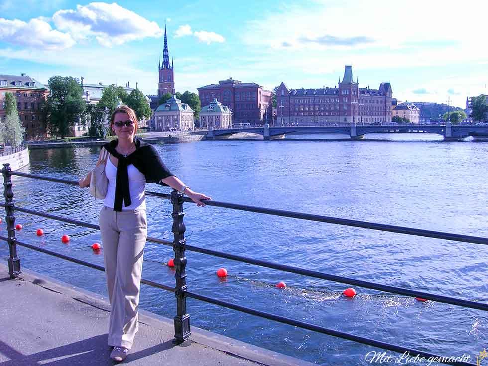 Stockholm, im Vordergrund Frau