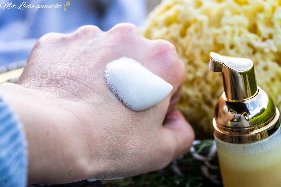 Handwaschschaum ist sehr sparsam