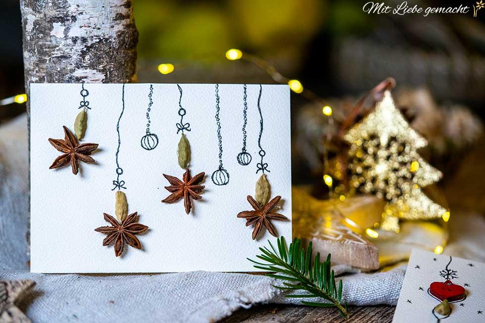 Duftende Weihnachtskarten selber machen