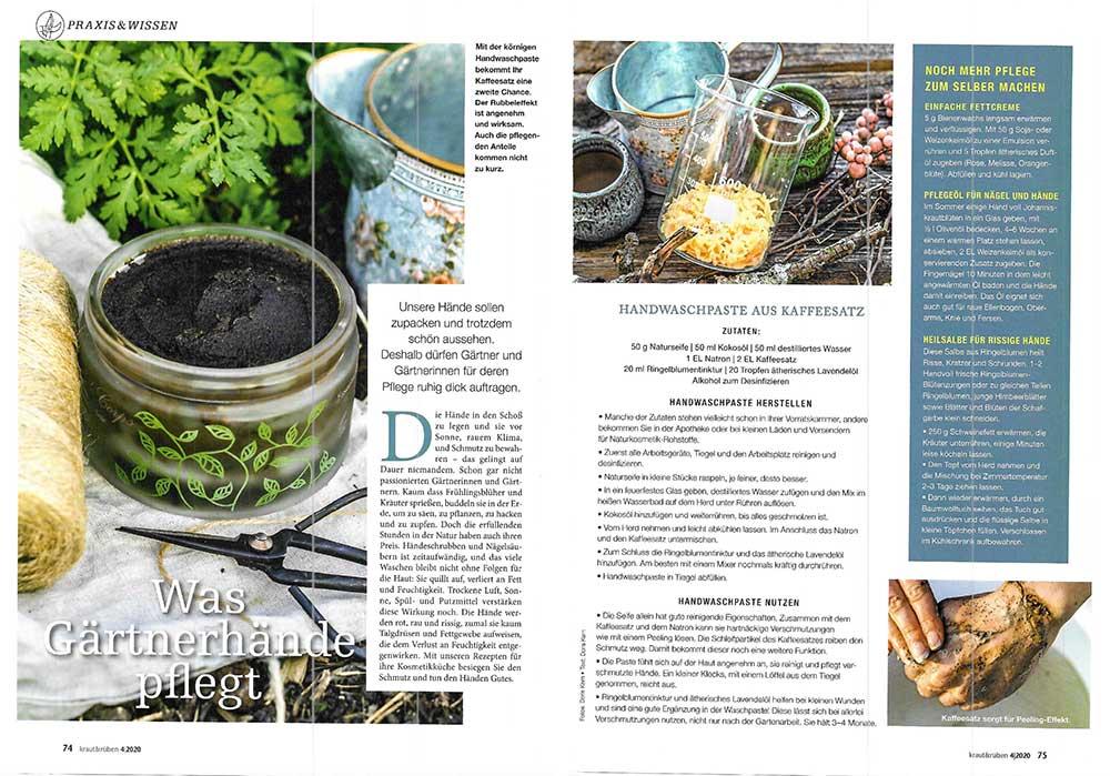 Kraut und Rüben – Gärtnerhände pflegen – Doris Kern