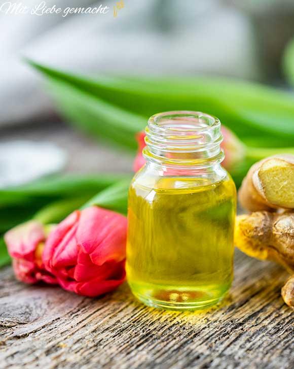 ätherisches Ingweröl als Zutat im Körperöl