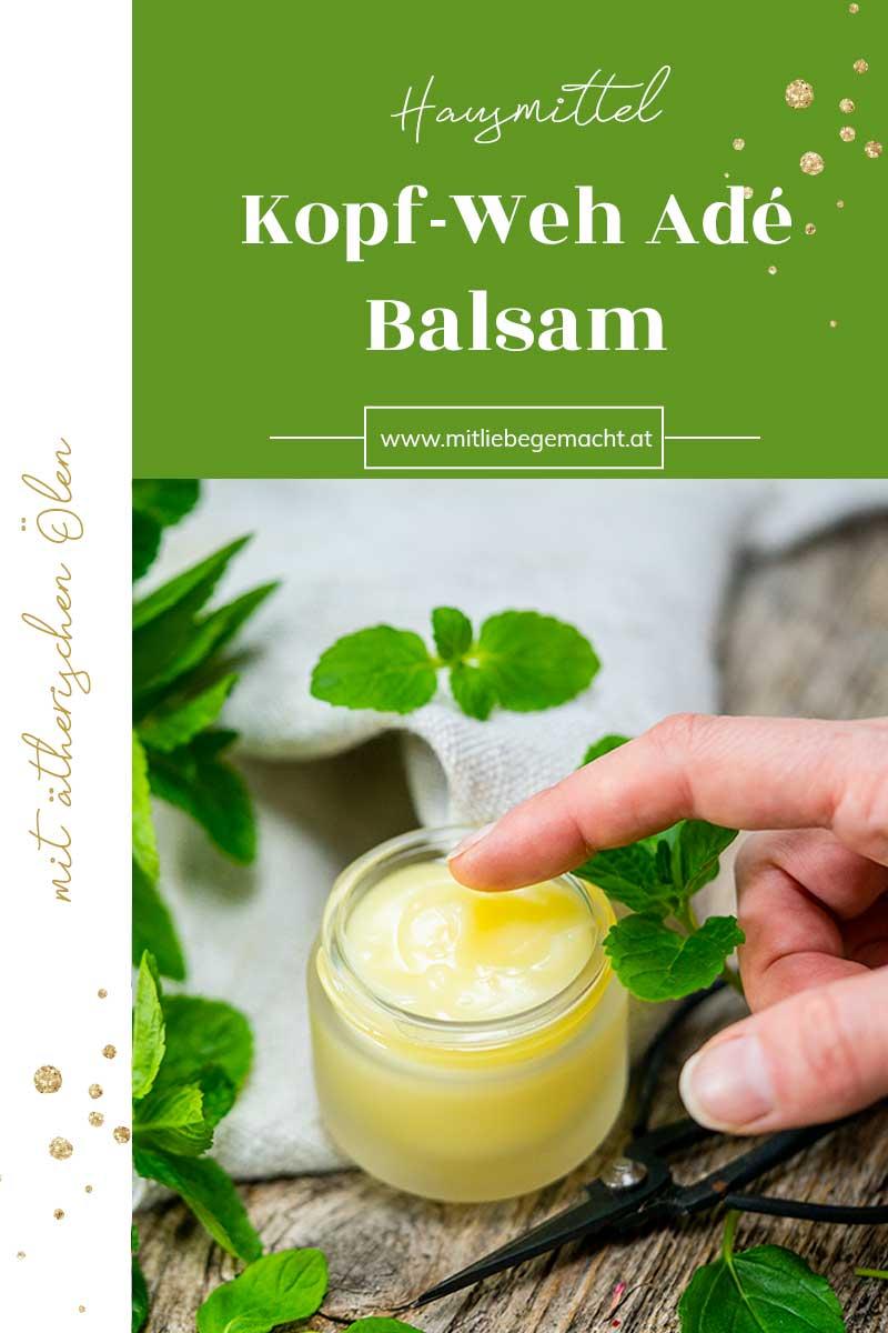 Anti Kopfweh Balsam selber machen mit feinen ätherischen Ölen
