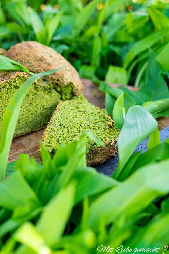 so schmeckt der Frühling - einfach Sodabrot mit Bärlauch