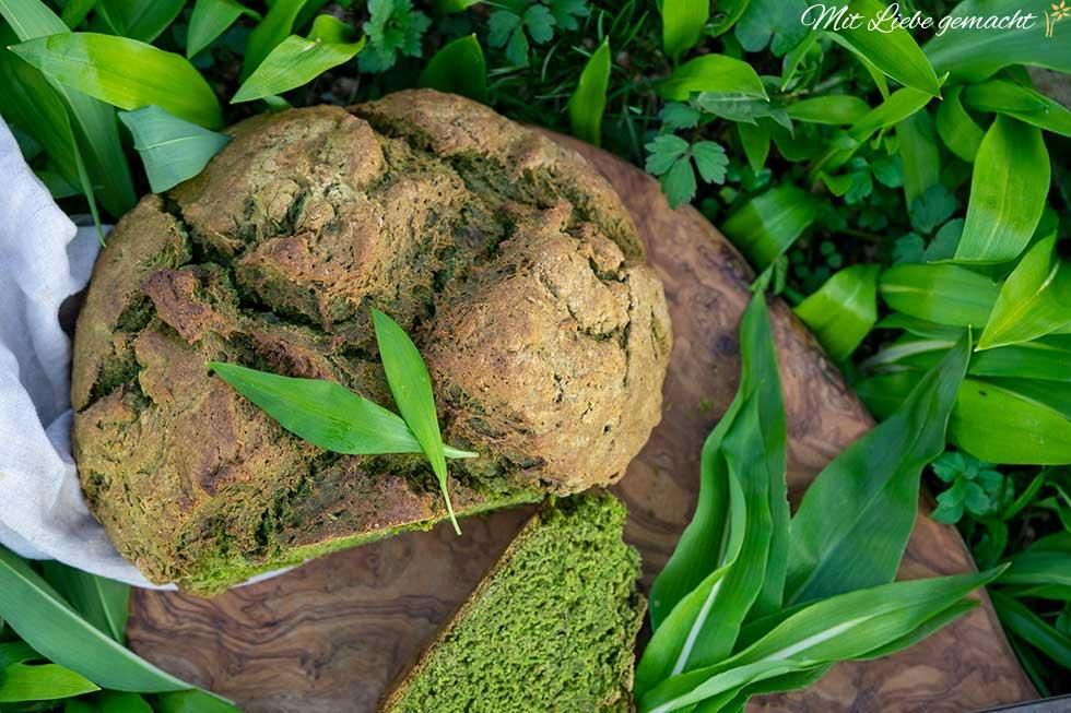 Kräuterküche – Sodabrot mit Bärlauch